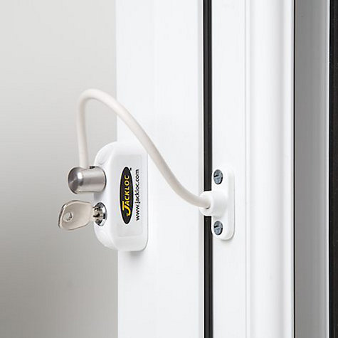Buy Jackloc Window Restrictor, White Online at johnlewis.com