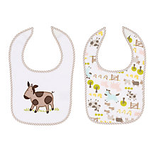 Buy John Lewis Farmyard Bibs, Pack of 2 Online at johnlewis.com