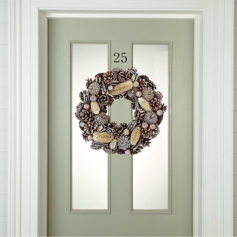 Buy John Lewis Silver Glitter Wreath Online at johnlewis.com