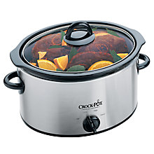 Buy Crock-Pot 37401BC Slow Cooker, Brushed Chrome Online at johnlewis.com