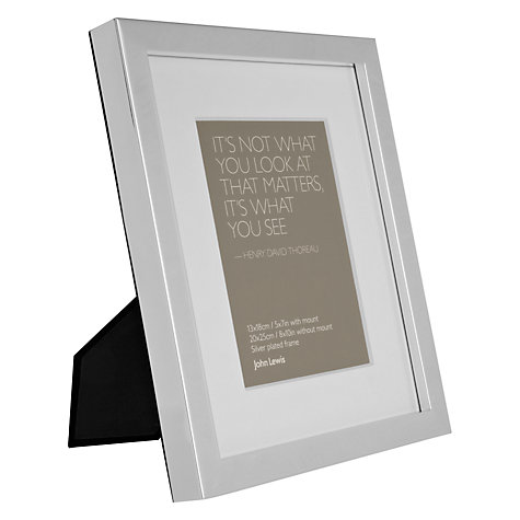 Buy John Lewis Croft Collection Box Photo Frame, Silver Plated Online at johnlewis.com