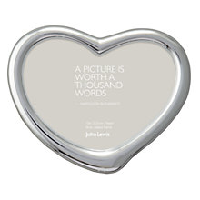 Buy John Lewis Heart Photo Frame, Silver Plated Online at johnlewis.com