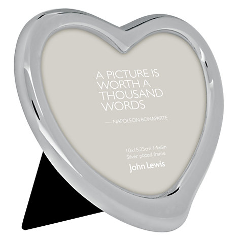 "Buy John Lewis Heart Photo Frame, Silver Plated, 4 x 6"" (10 x 15cm) Online at johnlewis.com"