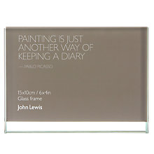 "Buy John Lewis Glass Sandwich Photo Frame, Landscape, 4 x 6"" (10 x 15cm) Online at johnlewis.com"