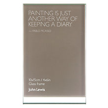 "Buy John Lewis Glass Sandwich Photo Frame, Portrait, 4 x 6"" (10 x 15cm) Online at johnlewis.com"
