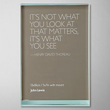 "Buy John Lewis Glass Sandwich Photo Frame, Portrait, 5 x 7"" (13 x 18cm) Online at johnlewis.com"