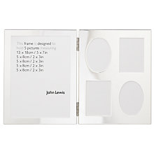 Buy John Lewis Silver Double Frame, 5 Pictures Online at johnlewis.com