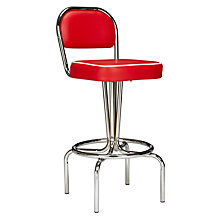Buy Cola Red Manhattan Bar Chairs Online at johnlewis.com