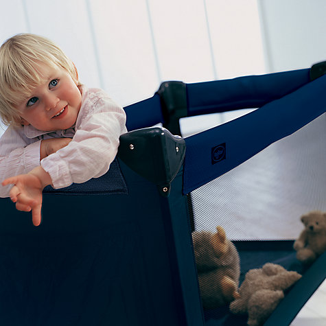 Buy BabyDan Travel Cot, Blue Online at johnlewis.com