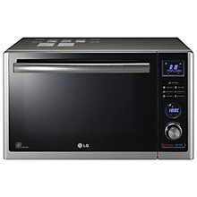 Buy LG MJ3281BCS Combination Microwave & Convection Oven, Black / Stainless Steel Online at johnlewis.com