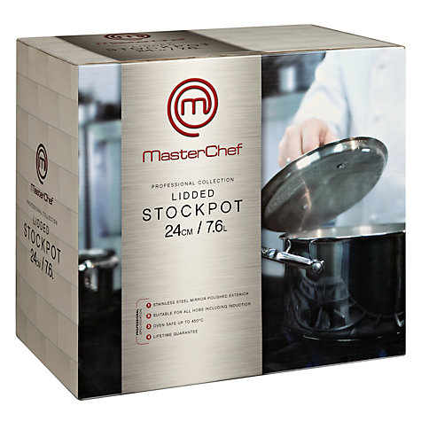 Buy MasterChef Stockpot, Dia.24cm Online at johnlewis.com