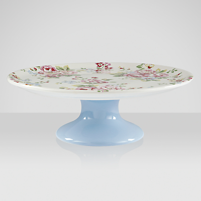 Cath Kidston Single Tier Cake Stand, Spray Flowers