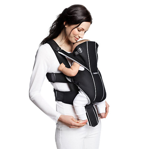 Buy BabyBjörn Miracle Carrier, Black/Silver Online at johnlewis.com