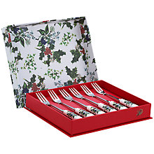 Buy Portmeirion The Holly and The Ivy Pastry Forks, Set of 6 Online at johnlewis.com