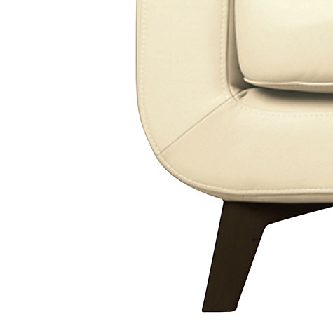 Buy John Lewis Barbican Leather Armchair with Dark Legs Online at johnlewis.com