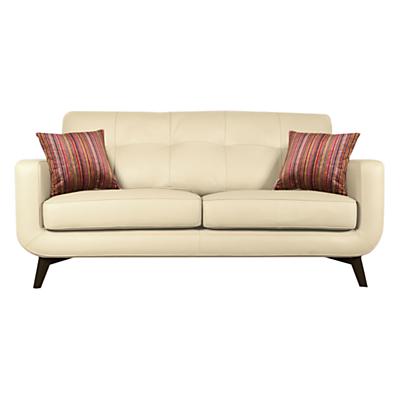 John Lewis Barbican Medium 2 Seater Sofa, Dark Leg, Soul White Leather