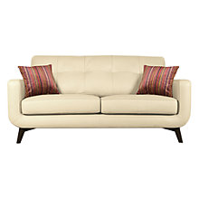 Buy John Lewis Barbican Medium Leather Sofa with Dark Legs Online at johnlewis.com