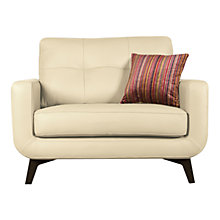Buy John Lewis Barbican Snuggler, Soul White Leather Online at johnlewis.com