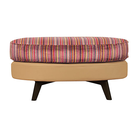 Buy John Lewis Barbican Footstool with Dark Legs Online at johnlewis.com