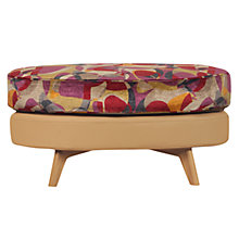 Buy John Lewis Barbican Leather Stool, Prescott Buckskin Hide, Virginia Geometric / Light Leg Online at johnlewis.com