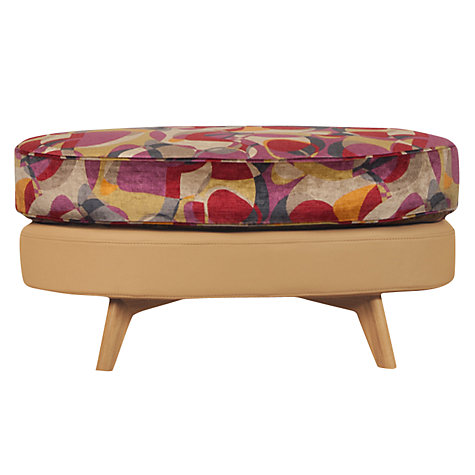 Buy John Lewis Barbican Leather Stool with Light Legs, Prescott Buckskin Hide Online at johnlewis.com