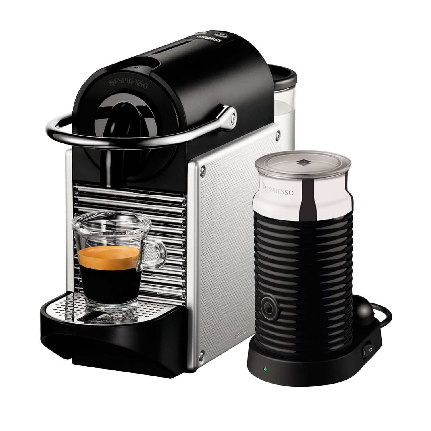 Buy Nespresso Pixie Automatic Coffee Maker and Aeroccino by Magimix John Lewis