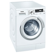 Buy Siemens WM14S496GB Washing Machine, 8kg load, A+++ Energy Rating, 1400rpm Spin, White Online at johnlewis.com