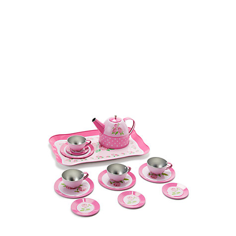Buy John Lewis Toy Rose Tin Tea Set Online at johnlewis.com