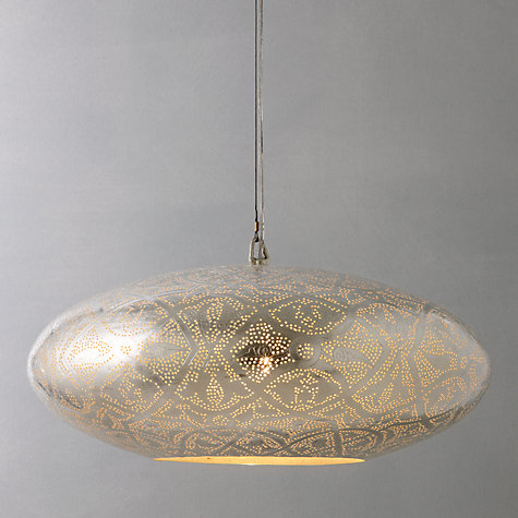 Buy Zenza Filigrain Oval Pendant Ceiling Light Online at johnlewis.com