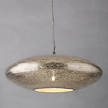 Buy Zenza Filisky Copper Oval Pendant Ceiling Light Online at johnlewis.com