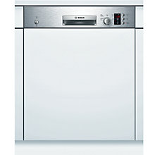 Buy Bosch SMI50C05GB Semi-Integrated Dishwasher, Stainless Steel Online at johnlewis.com
