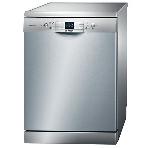 Buy Bosch SMS40A08GB Freestanding Dishwasher, Stainless Steel Online at johnlewis.com