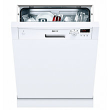 Buy Neff S41E50W0GB Semi-Integrated Dishwasher, White Online at johnlewis.com