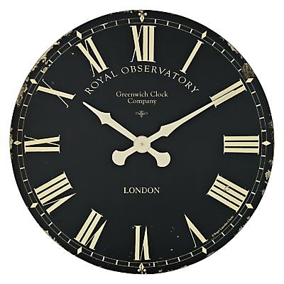 Image of Lascelles Greenwich Clock, Dia.70cm, Black