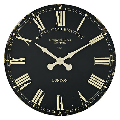 Buy Lascelles Greenwich Oversized Wall Clock Dia 70cm