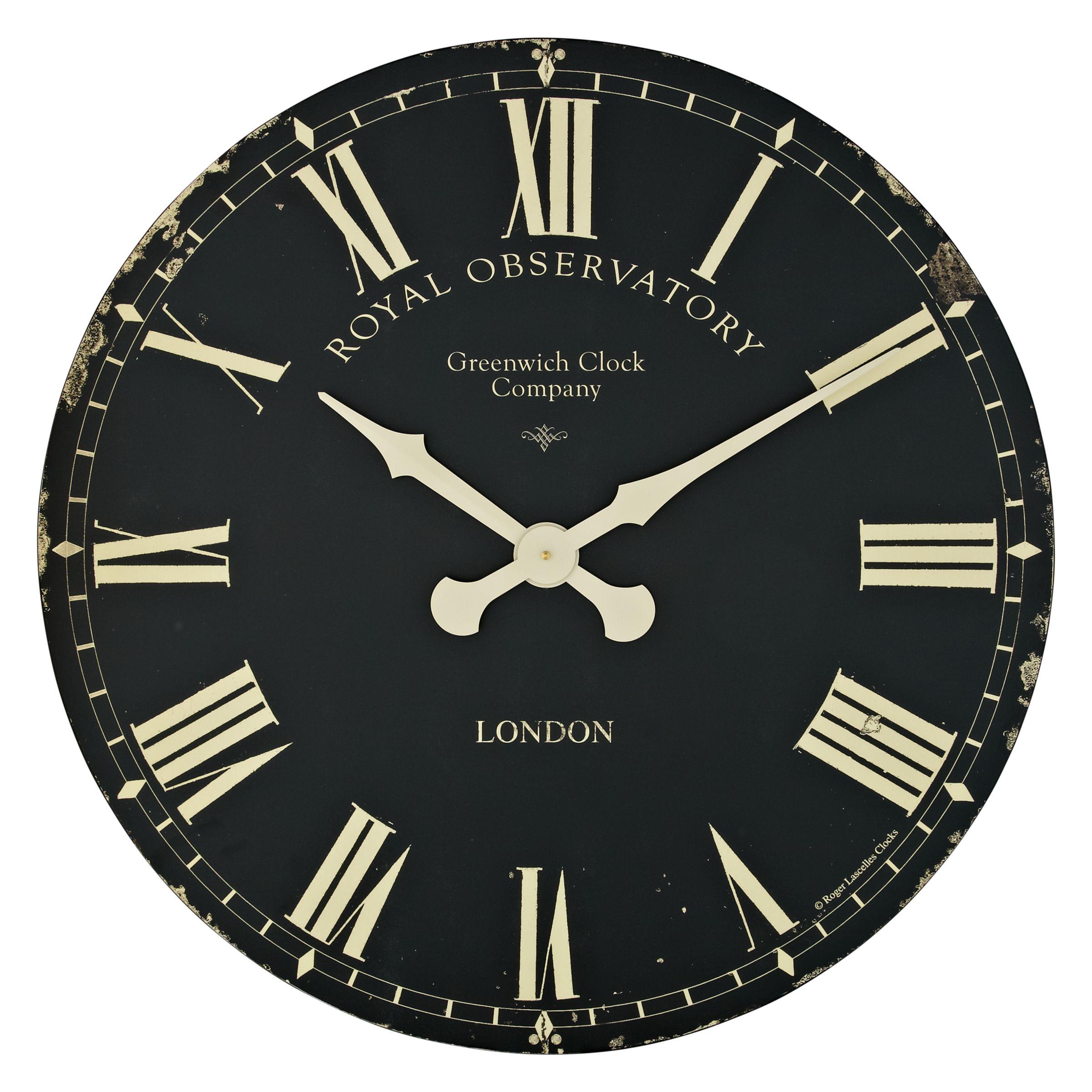 Lascelles Lascelles Greenwich Clock, Dia.70cm, Black