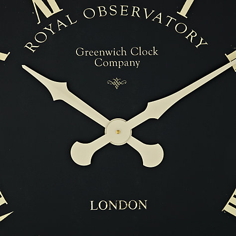 Buy Lascelles Greenwich Clock, Dia.70cm, Black Online at johnlewis.com