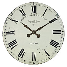 Buy Roger Lascelles Greenwich Wall Clock, Dia.70cm, Cream Online at johnlewis.com