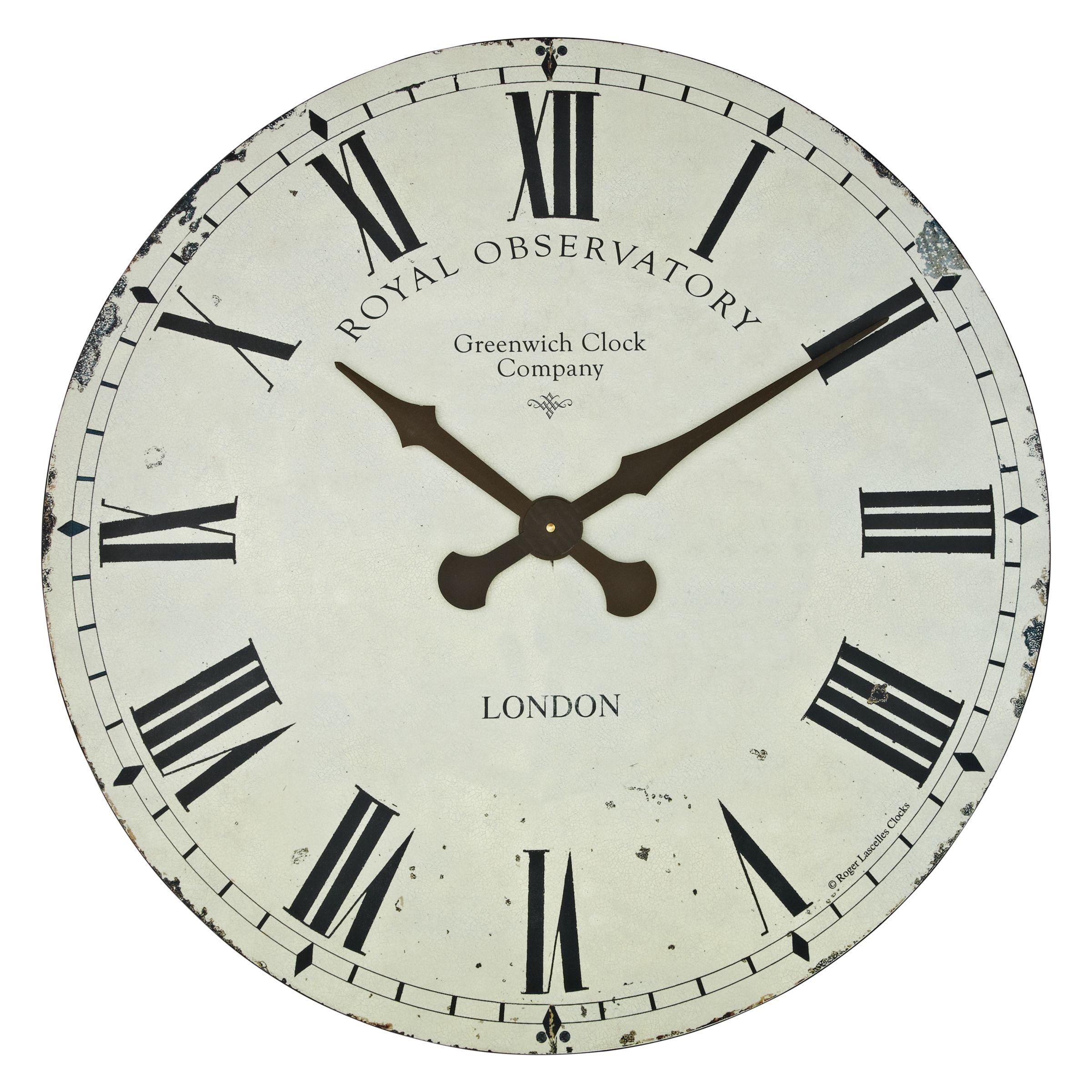 Lascelles Roger Lascelles Greenwich Wall Clock, Dia.70cm, Cream