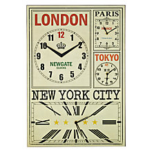 Buy Newgate World Travellers Clock, H62 x W43cm Online at johnlewis.com