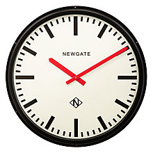 Buy Newgate Station Clock, Dia.60 x D13cm, Black Online at johnlewis.com