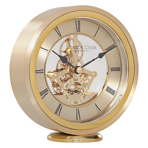Buy London Clock Company Round Carriage Clock, Gold Online at johnlewis.com