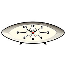 Buy Newgate Bullet Clock Red, Black Online at johnlewis.com