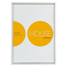 Buy House by John Lewis Frosted Silver Photo Frame, A4 (21 x 30cm) Online at johnlewis.com
