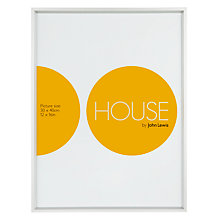 "Buy House by John Lewis Frosted Silver Photo Frame, 12 x 16"" (30 x 40cm) Online at johnlewis.com"