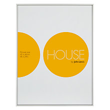 "Buy House by John Lewis Frosted Silver Photo Frames, 18 x 24"" (45 x 60cm) Online at johnlewis.com"