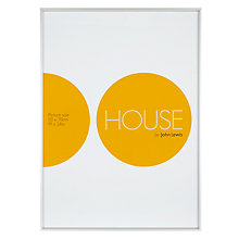 Buy House by John Lewis Photo Frame, Frosted Silver, 50 x 70cm Online at johnlewis.com