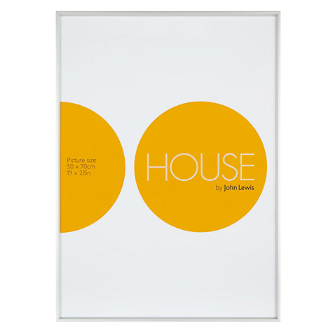 Buy House by John Lewis Photo Frames, Frosted Silver, 50 x 70cm Online at johnlewis.com
