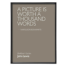 "Buy House by John Lewis Wall Photo Frame, Matt Black, 12"" x 16"" (30 x 40cm) Online at johnlewis.com"