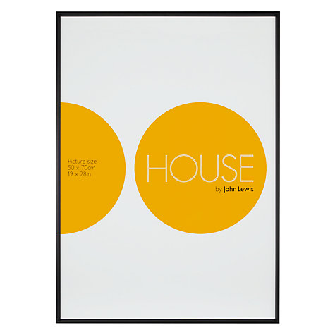 "Buy House by John Lewis Wall Photo Frame, Matt Black, 20 x 27"" (50 x 70cm) Online at johnlewis.com"